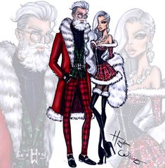 Fashionably Festive Mr. & Mrs. Claus #MerryChristmas ❤️