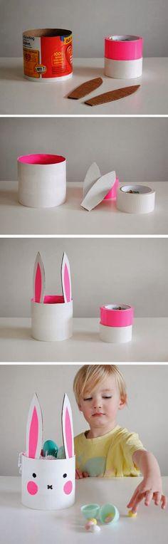 DIY Kids Bunny Container