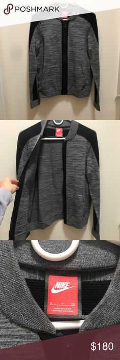 Grey and Black Nike Jacket Grey and black jacket. Nike. Size Small. Workout Outfit. Worn twice. Nike Jackets & Coats
