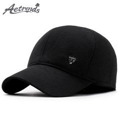New Winter Baseball Cap Men Dad Hat Warm with Ear Flaps Fashion Design Bone  Men Snapback Caps Z-5892 9b0cce2927c2d