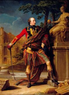 Colonel Gordon painted by eighteenth century Grand Tourist artist Pompeo Batoni posing with drawn sword, kilt and swathed in a length of Huntly tartan. Italian Painters, Italian Artist, Tartan, Plaid, Scotland History, Scotland Uk, Famous Castles, Men In Kilts, Art Uk