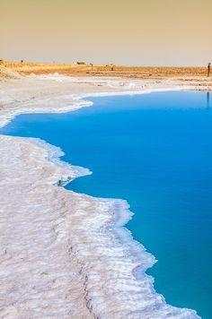 Chott el Djerid, salt lake in Tunisia, Africa