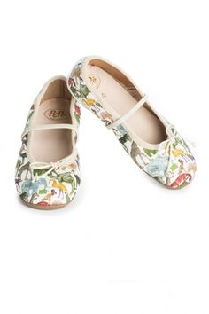 Jungle Ballet Flats- Lions, tigers and elephants, oh my! These enchanted hand sewn ballet flats by Pepe, feature a regular menagerie of jungle creatures that are sure to make them a favorite. Made in Italy by PePe.