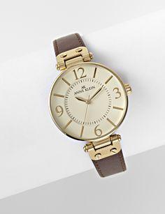 Anne Klein® Women's Brown Leather Watch - Women's - Watches - Jewelry
