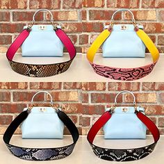 3708c6fe571e9 Amazon.com: Guitar Purse Handbag Strap, Reversible Interchangeable Shoulder  Bag Strap, Snakeskin Shoulder Strap, Guitar Style Multi-Color Wide Purse  Strap: ...