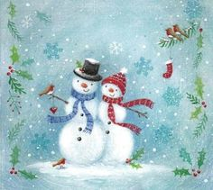 2-snowmen-and-holly