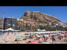 Alicante Playa del Postiguet Alicante, Mount Everest, Dolores Park, Mountains, Nature, Travel, Castles, Places To Visit, Beach