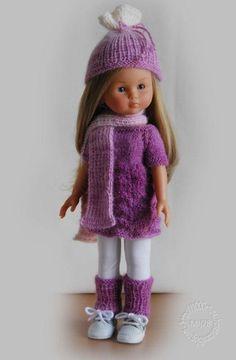 Modèle tricot : Ensemble Flocon Rose - patron tricot - Le Dressing des Poupées - Fait Maison