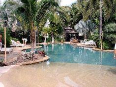 A swimming pool designed like a beach!