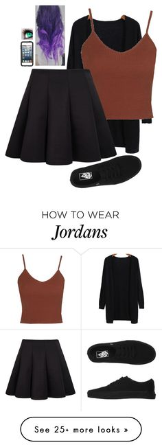 """""""Untitled #779"""" by erika-demass on Polyvore featuring Topshop, Vans and OtterBox"""