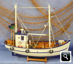 Model Fishing Boats including trawlers, fifies and crab boats from Dorset Gifts in the UK - nautical, marine gifts, maritime and Titanic gifts for the home, garden or boat including miniature boats, fishing boats, small nautical boats, model wooden ships, cheap model wooden boats and tin ships.