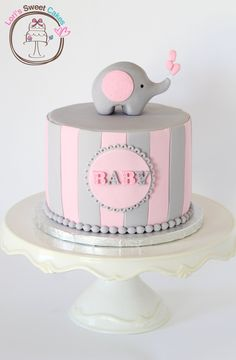 Elephant Baby Shower Cake  on Cake Central