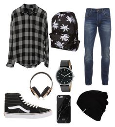 """👻"" by sappiri34 ❤ liked on Polyvore featuring Vans, Hurley, Native Union, Pryma, Skagen, Scotch & Soda, men's fashion and menswear"