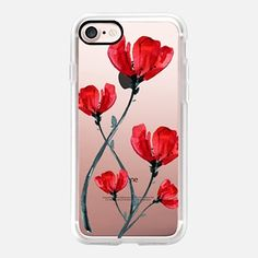 iPhone 7 Case Red Poppy. Summer flowers I