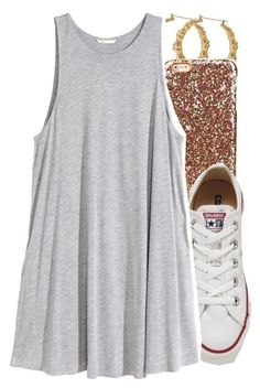 """""""6/2/16"""" by lookatimani ❤ liked on Polyvore featuring Converse and H&M"""