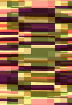 Green Blocks Photographic and Digital Pattern - Sarah Bagshaw