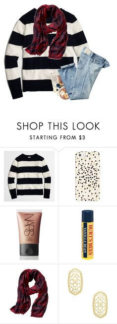 """""""Happy (late) New year's!! 🎉🎉🎉"""" by laurenmf ❤ liked on Polyvore featuring J.Crew, Kate Spade, NARS Cosmetics, Burt's Bees, Banana Republic, Kendra Scott and AG Adriano Goldschmied"""
