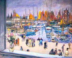 """Henri Lebasque: """" Le port a Saint-Tropez"""""""