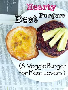Hearty Beet Burger Recipe-the only veggie burger my meat loving husband will eat!