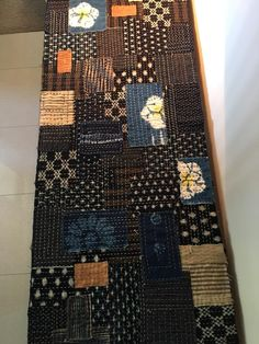 Boro Textiles — An Appreciation - Indigo Niche Japanese Quilt Patterns, Japanese Patchwork, Japanese Sewing, Japanese Textiles, Japanese Embroidery, Japanese Fabric, Textile Patterns, Embroidery Art, Embroidery Stitches
