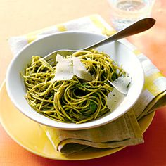 Swiss Chard Pesto Pasta. Yum! Anyone who's had a share in our CSA knows summer brings an abundance of pesto and healthy Swiss chard!