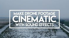 Make your DRONE FOOTAGE Cinematic with SOUND! | DJI Spark/Mavic  Today in this drone tutorial I teach you how to make your drone footage cinematic and dramatic with just using some simple cinematic sound effects!! This tutorial can be applied to any drone including the DJI Spark Mavic Air/Pro or any other drone you may own! You can also do this on any editing software (Premiere Pro After Effects Final Cut Pro etc).  Your drone footage looks pretty boring and not at all cinematic just plain…