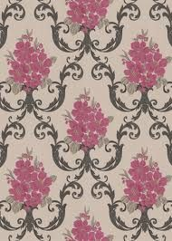 Dauphin Raspberry Taupe Wallpaper    broohavo.info