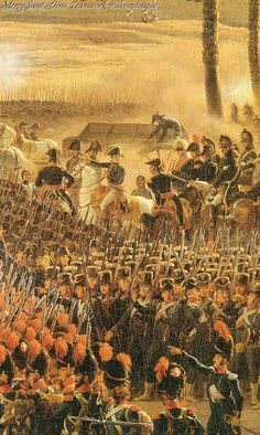 Napoleon Bonaparte at the Battle of the Pyramids, 21 July 1798.