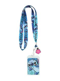 Lanyard from Lilo & Stitch with a sketched Stitch design and Hawaiian flower charm. Lilo And Stitch Merchandise, Disney Merchandise, Lilo Y Stitch, Cute Stitch, Cute Disney, Disney Girls, Disney Babies, Disney Stich, Disney Lanyard