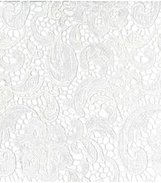 Bridal Collections- Embroidered Heavy Lace White Fabric