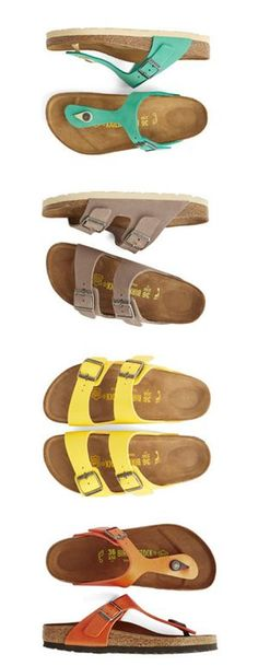 birkenstock- i want them ALL!                                                                                                                                                                                 More