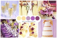 Pale Yellow and Purple Wedding Palette