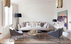 Un estilo contemporáneo y elegante para este apartamento en Barcelona en el que conviven elementos originales con elementos que representan las últimas tendencias en diseño. El proyecto completo en nuestro Blog:  ➡️ https://goo.gl/HcCFEU  #interiorismo #barcelona #apartamentos #apartments