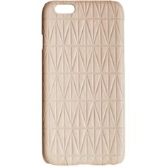 Dagmar Leather Iphone Case (€61) ❤ liked on Polyvore featuring accessories, tech accessories, beige, pattern iphone case, apple iphone cases, dagmar, iphone case and iphone cover case