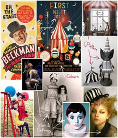 Ideas for a #carnival / #circus based #illustration