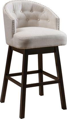 "Jeremy 29"" Swivel Bar Stool with Cushion"