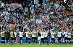 Germany players celebrate.