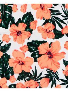 Blue Inc Woman Womens Neon Orange Floral Print Rat Tail Cross Back Mini Dress