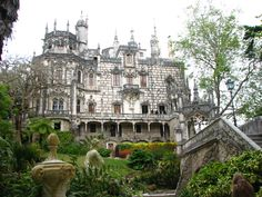 Quinta da Regaleira in Sintra, Lisboa is located near the historic center of Sintra. The property sonsists of a romantic palace and chapel, a park featuring lakes, grottos, wells, benches, and fountains. The property has had many owners over the years. Carvalho Monteiro hired architect Luigi Manini he built a palace and buildings on the property that reflected his interests. The buildings designs evoked Roman, Gothic, Renaissance, and Manueline styles. It was sold in 1942 and again in 1987…