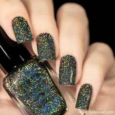 """F.U.N. Lacquer """"Black Holo Witch"""" Simply Nailogical 2016 Collection"""
