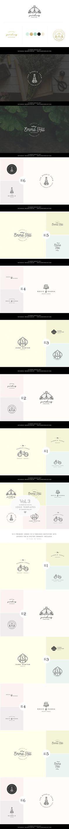 Feminine Digital Logo Bundle Vol.3 #logodesign #vectorlogo