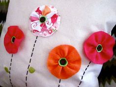 Flowers Pillow coverTangerine tango Spring is here by katikamade, $39.95