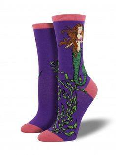 Step out and show off your style with our beautiful Mermaid women's crew socks! Available at Purple Leopard Boutique. Mermaid Socks, Purple Socks, Mermaid Images, Pink Toes, Novelty Socks, Colorful Socks, Go Shopping, Crew Socks, Rubber Rain Boots