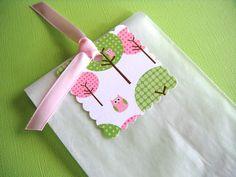 25 Glassine Baby Shower Favor Bags with Pink Owls by WeddingsBySusan, $8.50