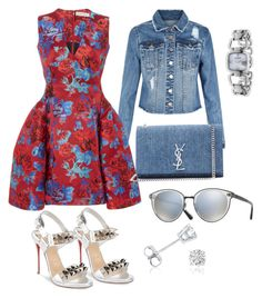 """Casual floral"" by thestylesnitch on Polyvore featuring Gucci, New Look, Christian Louboutin, Oliver Peoples, Mary Katrantzou, Yves Saint Laurent and Amanda Rose Collection"