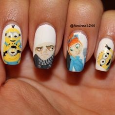 Gru, Lucy, and some minions!!  @ andrea4244