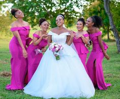 HOW TO WEAR AFRICAN BRIDESMAID DRESSES IN 2021? African Bridesmaid Dresses, Shweshwe Dresses, African Dress, Traditional Wedding, Timeless Fashion, Followers, Wedding Inspiration, Wedding Photography, Bright