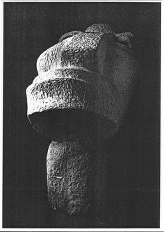 Otto Freundlich, Der neue Mensch (The New Man). 1912. The sculpture, which had been confiscated from the Museum für Kunst und Gewerbe in Hamburg, was on the cover of the Degenerate art exhibition guide in 1937. Freundlich, German painter and sculptor of Jewish origin, spent much of his career in France. He was arrested in Nazi-occupied France in February 1943 and sent to the Majdanek concentration camp in Lublin (Poland), where he was murdered on March 3, 1943.