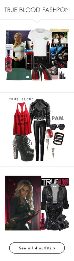 """""""TRUE BLOOD FASHİON"""" by rosaregaler ❤ liked on Polyvore featuring Burberry, Jitrois, Wildfox, Jeffrey Campbell, Wet Seal, Stephen Webster, Repossi, House of Harlow 1960, pam and true blood"""