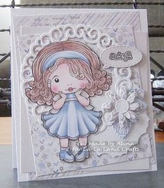 From our Design Team! Card by Alina Meijer-Petrescu featuring Shy Marci and these Dies - Koi Circle Die (set of 3), Stitched Elements (set of 7), Daisies (August 2015 Club Kit), Strawberry Blossoms (July 2015 Club Kit) :-) Shop for our products here - shop.lalalandcrafts.com  Coloring details and more Design Team inspiration here - http://lalalandcrafts.blogspot.ie/2015/11/inspiration-friday-thanksgiving-thanks.html